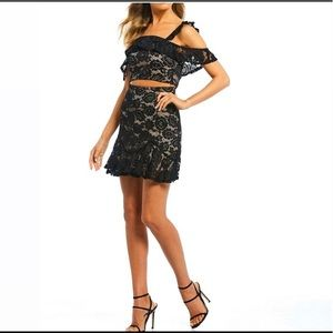 Jodi Kristopher 2pc lace skirt and top set